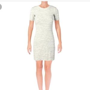 Theory Ribbed gray tshirt dress